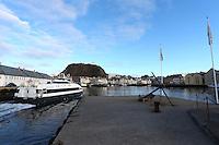 ÅLESUND 20130224. <br /> Hurtigbåten Tidevind fra Norled kjører inn Brosundet i Ålesund.<br /> Foto: Svein Ove Ekornesvåg