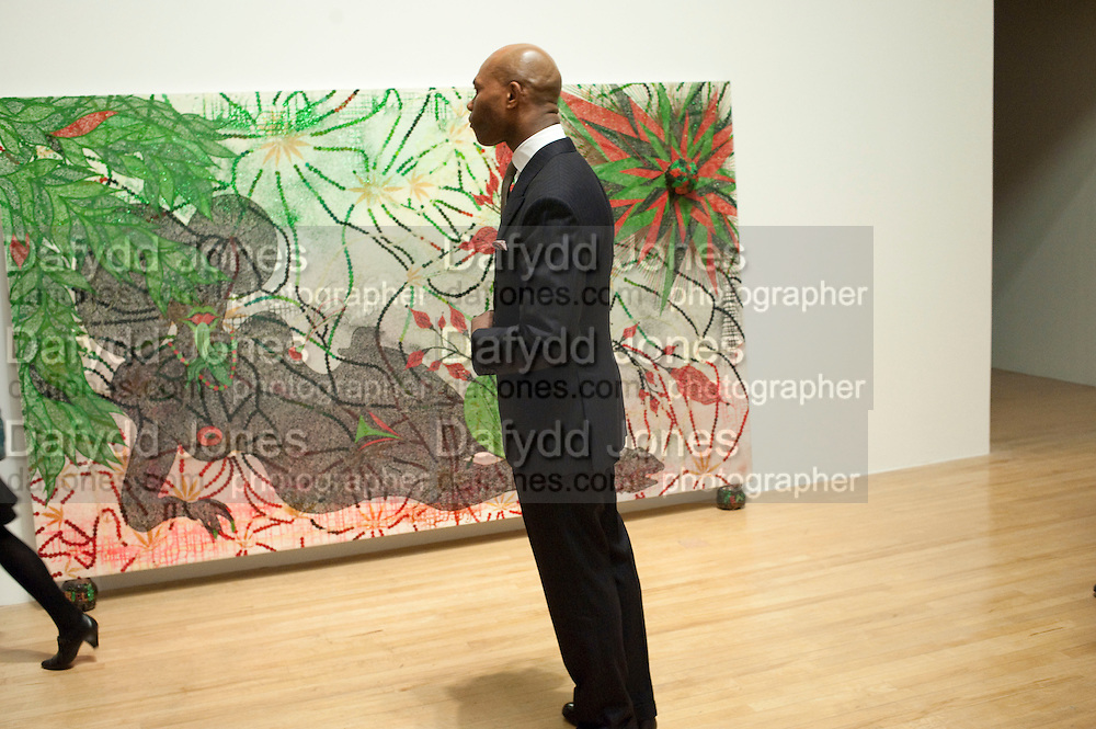 Chris Ofili dinner to celebrate the opening of his exhibition. Tate. London. 25 January 2010