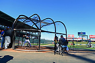 MESA, AZ - FEBRUARY 5:  Evan Williams takes batting practice during the 2017 Prospect Development Pipeline Premier at Sloan Park on Sunday, February 5,  2017 in Tempe, Arizona. (Photo by Jennifer Stewart/MLB Photos)