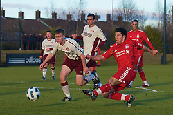 LIVERPOOL, ENGLAND - Tuesday, January 11, 2011: Liverpool's Dani Pacheco in action against Sunderland during the FA Premiership Reserves League (Northern Division) match at the Kirkby Academy. (Pic by: David Rawcliffe/Propaganda)