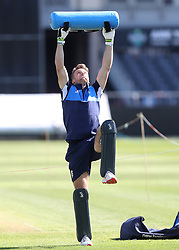 England's Jos Buttler during the nets session at the Bristol County Ground.