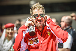 May 13, 2018 - Barcelona, Catalonia, Spain - SEBASTIAN VETTEL (GER), Ferrari, is presented to the crowd prior the Spanish GP at Circuit de Barcelona - Catalunya (Credit Image: © Matthias Oesterle via ZUMA Wire)