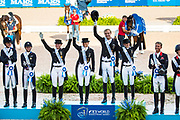 Prijsuitreiking Nations Cup World Champion Germany<br /> FEI World Equestrian Games Tryon 2018<br /> © DigiShots