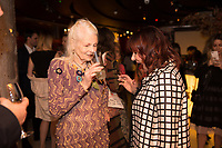 Vivienne Westwood with Arlene Phillips  - SUSHISAMBA hosted a glittering party at their vibrant restaurant to celebrate the 10th birthday of Cool Earth, their charity partner that works to halt rainforest destruction. Celebrity guests included Dame Vivienne Westwood, Daisy Lowe, Leah Wood, Alexandra Richards, Julien Macdonald, Jasmine Hemsley, Jack Guinness and Savannah Miller. Guests ate a special menu devised by SUSHISAMBA's Chef Director Claudio Cardoso using ingredients sourced directly from the rainforest in select dishes including Seasonal Vegetable Tempura, El Topo and Welcome to the Rainforest dessert and drank Yuzu Gin Fizz and a special Ashaninka Forest Cocktail at the star studded party. Celebrity guests joined SUSHISAMBA CEO Shimon Bokovza and Cool Earth's Director Matthew Owen.