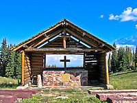 St. Alban's Chapel in the Snowy Range of the Medicine Bow Mountains.