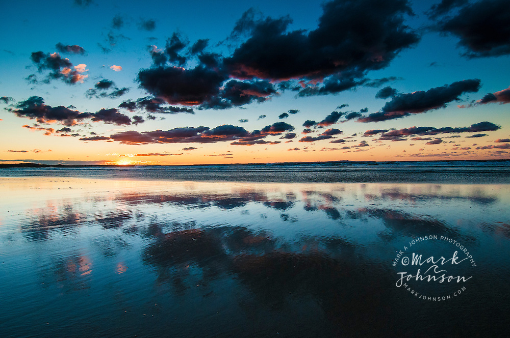 Sunset at Flinders Beach, North Stradbroke Island, Queensland, Australia