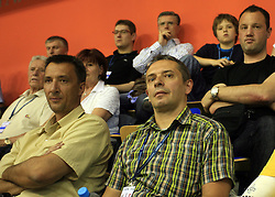 Tone Tiselj at  handball game between men national teams of Slovenia and Slovakia, first qualification game for the World Chamionship 2009, on June 7, 2008, in Arena Zlatorog, Celje, Slovenija. Result: 33 : 33. (Photo by Vid Ponikvar / Sportal Images)