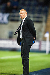 Falkirk's manager Gary Holt.<br /> Falkirk 0 v 5 Aberdeen, the third round of the Scottish League Cup.<br /> &copy;Michael Schofield.