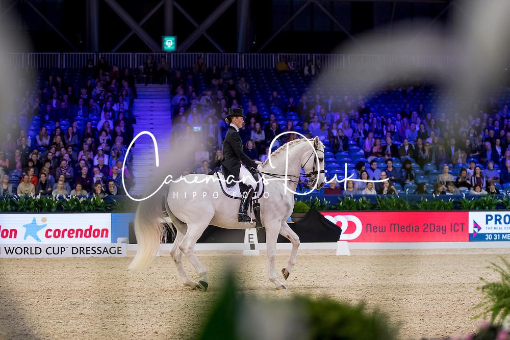 Tofte Olesen Mai, DEN, Rustique<br /> FEI World Cup Dressage - Grand Prix<br /> Jumping Amsterdam 2017<br /> &copy; Hippo Foto - Leanjo de Koster<br /> 27/01/17