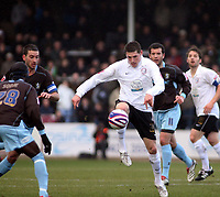 Photo: Mark Stephenson/Richard Lane Photography. <br /> Hereford United v Bury. Coca-Cola League Two. 21/03/2008. Hereford's Gary Hooper holds the ball up
