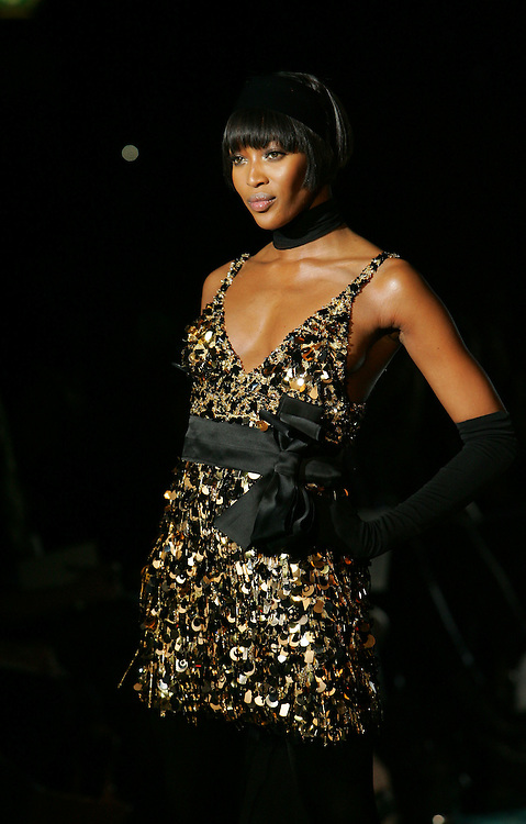 Naomi Campbell at the Julien MacDonald fashion show at The Hilton Park Lane Hotel.