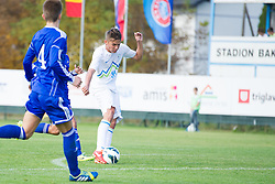 Luka Gajic of Slovenia during football game between Slovenia and Andorra of UEFA Under19 Championship Qualifications, on October 15, 2013 in Bakovci, Slovenia. (Photo by Erik Kavas / Sportida)