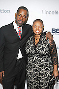 l to r: Gregory Gates and Moikgantsi Kgama at The ImageNation celebration for the 20th Anniversary of ' Do the Right Thing' held Lincoln Center Walter Reade Theater on February 26, 2009 in New York City. ..Founded in 1997 by Moikgantsi Kgama, who shares executive duties with her husband, Event Producer Gregory Gates, ImageNation distinguishes itself by screening works that highlight and empower people from the African Diaspora.