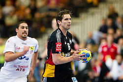 20.01.2011, Kristianstad Arena, SWE, IHF Handball Weltmeisterschaft 2011, Herren, Deutschland vs Tunesien, im Bild, // Tyskland Germany 6 Adrian Pfahl  runs away from a Tunisian player // during the IHF 2011 World Men's Handball Championship match Germany vs Tunisia  at Kristianstad Arena, Sweden on 20/1/2011. EXPA Pictures © 2011, PhotoCredit: EXPA/ Skycam/ Henrik Johansson +++++ ATTENTION - OUT OF SWEDEN/SWE +++++