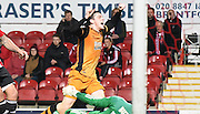 Andrew Robertson shows his passion as he gives Hull the lead during the Sky Bet Championship match between Brentford and Hull City at Griffin Park, London, England on 3 November 2015. Photo by Michael Hulf.