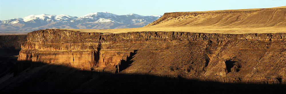 Snake River Canyon at Birds of Prey Natural Area and Owyhee, Canyonlands,  Mountains at sunrise, Idaho