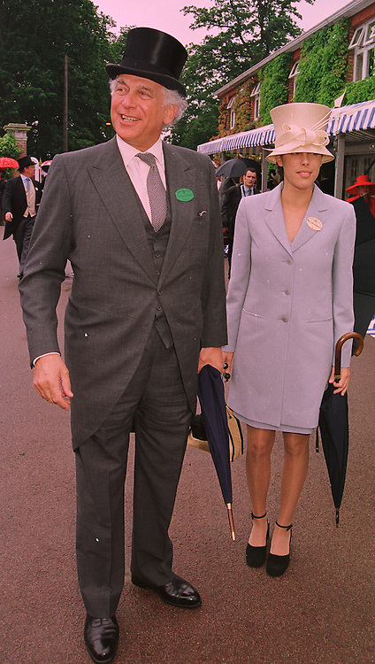SIR EVELYN DE ROTHSCHILD and his daughter MISS JESSICA DE ROTHSCHILD, at Royal Ascot on 18th June 1998.MIN 80
