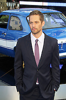 US actor Paul Walker, who starred in the Fast & Furious series of action films, has been killed in a car crash in California on 30 November 2013. Seen here at the The Fast And The Furious 6 World Film Premiere; Empire Cinema Leicester Square; London UK; 08 May 2013; Photo by Richard Goldschmidt