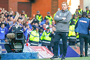 Interim Celtic Manager Neil Lennon far from impressed with going down to an early goal during the Ladbrokes Scottish Premiership match between Rangers and Celtic at Ibrox, Glasgow, Scotland on 12 May 2019.