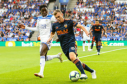 Toni Lato of Valencia takes on Wilfred Ndidi of Leicester City - Mandatory by-line: Robbie Stephenson/JMP - 01/08/2018 - FOOTBALL - King Power Stadium - Leicester, England - Leicester City v Valencia - Pre-season friendly
