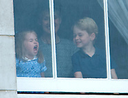 Princess Charlotte & Prince George Watch Flypast