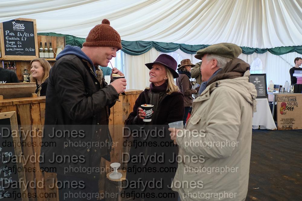 SIMON OAKES; BARONESS BAMFORD; BARON BAMFORD The Heythrop Hunt Point to Point. Cocklebarrow. 24 January 2016