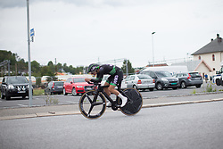 Marianne Vos (NED) of WM3 Pro Cycling Team rides on the prologue of the Ladies Tour of Norway - a 3.4 km time trial, starting and finishing in Halden on August 17, 2017, in Ostfold, Norway. (Photo by Balint Hamvas/Velofocus.com)