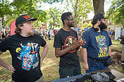 The OU Pro Wrestling Fan Club recruits members at the FIrst Year Student Involvement Fair.