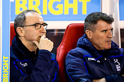 Nottingham Forest manager Martin O'Neill and Nottingham Forest assistant manager Roy Keane - Mandatory by-line: Robbie Stephenson/JMP - 25/02/2019 - FOOTBALL - The City Ground - Nottingham, England - Nottingham Forest v Derby County - Sky Bet Championship