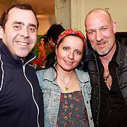 NLD/Amsterdam/20110324 - Opening Hers and His expositie van Eddy Zoey, Horace Cohen en partner Sanne Kraaijkamp met Eddy Zoey