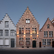 Huis Koning B&B Hotel at Dusk, Bruges, Belgium | Architecture & Interior Photographer Amsterdam