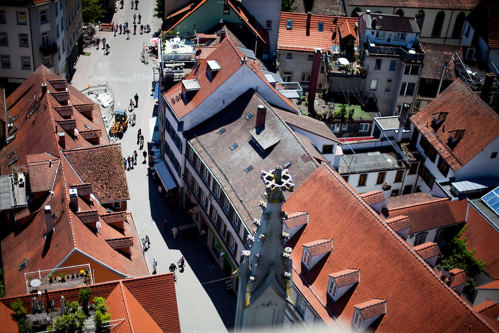 Constance seen from the Minster tower (Konstanzer Münster). The condemnation of Jan Hus took place on 6 July 1415, in the presence of the assembly of the Council in the Cathedral (Minster). After the High Mass and Liturgy, Hus was led into the church. The Bishop of Lodi delivered an oration on the duty of eradicating heresy; then some theses of Hus and Wycliffe and a report of his trial were read.