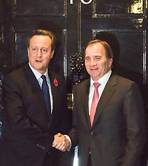 2015-11-02 David Cameron welcomes Swedish PM to Downing Street