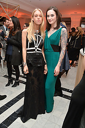 Left to right, LADY MARY CHARTERIS and JESSICA MOLONEY at a dinner to celebrate the exclusive Capsule collection: Maison Michel by Karl Lagerfeld held at Selfridges, 400 Oxford Street, London on 23rd February 2015.