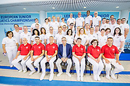 Officials and TSC Delegate <br /> LEN 45th European Junior Swimming Championships<br /> Helsinki, Finland<br /> M&auml;kel&auml;nrinne Swimming Centre<br /> Day04 07-07-2018<br /> Photo Andrea Masini/Deepbluemedia/Insidefoto