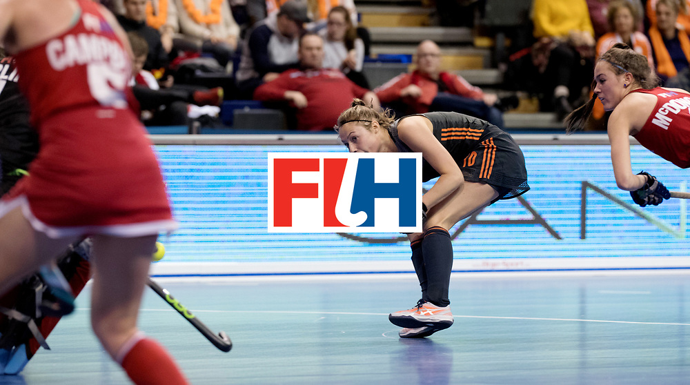BERLIN - Indoor Hockey World Cup<br /> Women: Netherlands - United States<br /> foto: Marijn Veen.<br /> WORLDSPORTPICS COPYRIGHT FRANK UIJLENBROEK