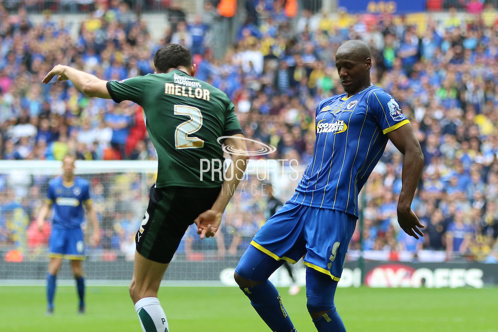 Tom Elliott forward for AFC Wimbledon (9) during the Sky Bet League 2 play off final match between AFC Wimbledon and Plymouth Argyle at Wembley Stadium, London, England on 30 May 2016. Photo by Stuart Butcher.