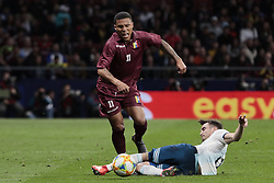 March 22, 2019 - Madrid, Spain - Argentina's Nicolas Alejandro Tagliafico and Venezuela's Darwin Machis during International Adidas Cup match between Argentina and Venezuela at Wanda Metropolitano Stadium. (Credit Image: © Legan P. Mace/SOPA Images via ZUMA Wire)