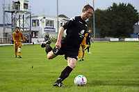 Photo: Rich Eaton.<br /> <br /> Carmarthen Town v SK Brann. UEFA Cup Qualifying. 19/07/2007. SK Brann's Bjorn Dahl crosses.