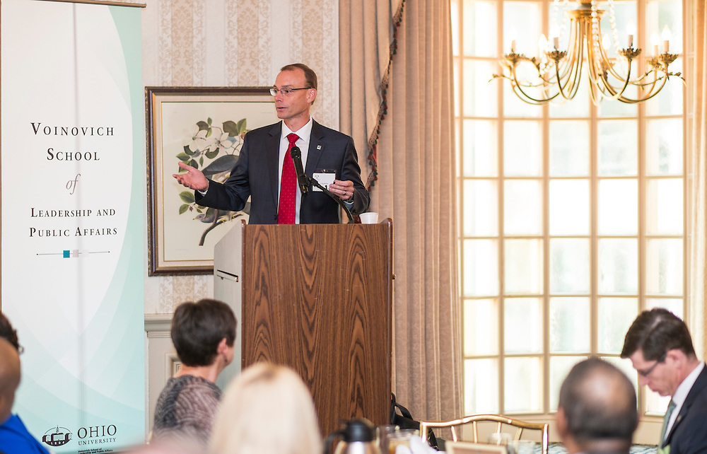 Craig Butler addresses attendees at the 32nd Annual Oho University State Government Alumni Luncheon at the Athletic Club of Columbus on Tuesday, May 5, 2015.  Photo by Ohio University  /  Rob Hardin