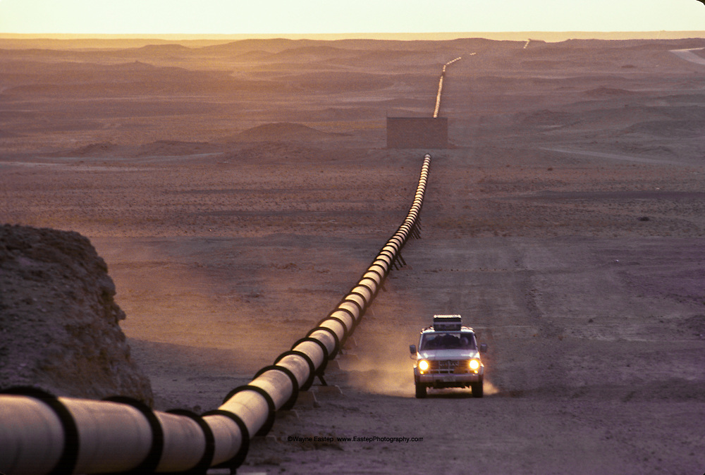 Pipeline along Saudi Arabian border with Iraq