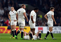 Chris Robshaw of England looks on during a break in play - Mandatory byline: Patrick Khachfe/JMP - 07966 386802 - 03/10/2015 - RUGBY UNION - Twickenham Stadium - London, England - England v Australia - Rugby World Cup 2015 Pool A.