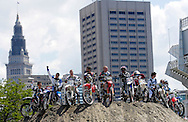 Riders line up at the FMX Finals at the AST Dew Tour Right Guard Open in Cleveland...Photo by Ken Blaze
