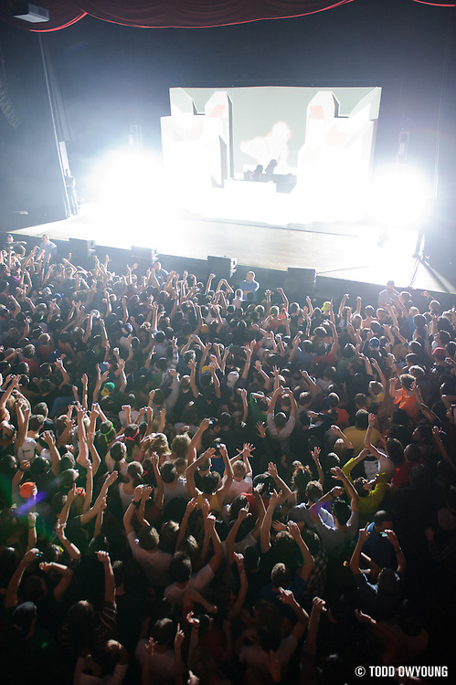 The crowd during Skrillex's headling performance on the Mothership Tour Thursda, November 3.
