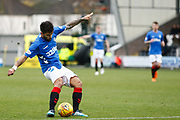 Daniel Candeias of Rangers score the opener during the Ladbrokes Scottish Premiership match between St Mirren and Rangers at the Simple Digital Arena, Paisley, Scotland on 3 November 2018.