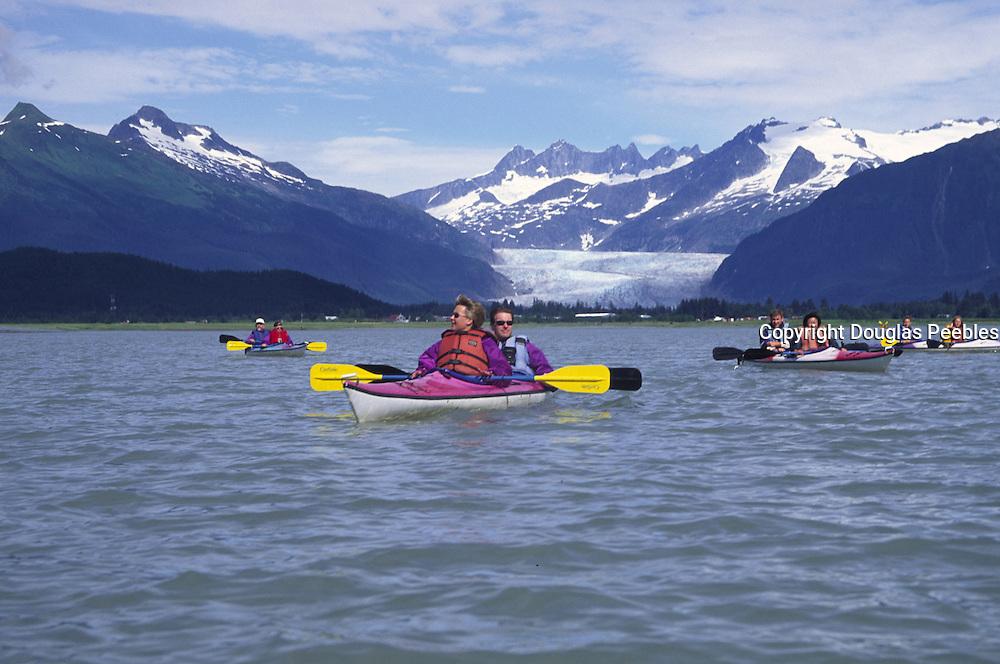 Kayaking, Mendenhall Glacier, Juneau, Alaska<br />