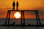 UK - The Couple By Artist Sean Henry At Newbiggin-by-the-Sea Northumberland - 03 Oct 2016