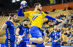 Borut Mackovsek of Zagreb during handball match between RK Celje Pivovarna Lasko and RK Zagreb PPD in Round #13 of SEHA Gazprom League 2017/18, on February 4, 2018 in Arena Zlatorog, Celje, Slovenia. Photo by Vid Ponikvar / Sportida