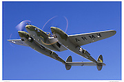 P-38 Glacier Girl, air-to-air