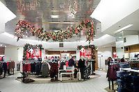 28 November, 2008. Brooklyn, New York. The women's department at the Macy's store is shown here in the early morning of Black Friday, the day that is supposed to be the busiest of the year.<br /> <br /> ©2008 Gianni Cipriano for The New York Times<br /> cell. +1 646 465 2168 (USA)<br /> cell. +1 328 567 7923 (Italy)<br /> gianni@giannicipriano.com<br /> www.giannicipriano.com